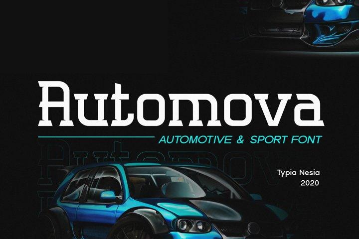 Automova Sport Font