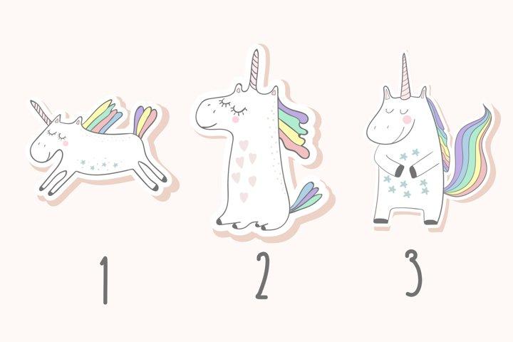 Unicorns set - Free Design of The Week Design0