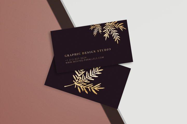 CANVA | Elegant Gold Business Card 10