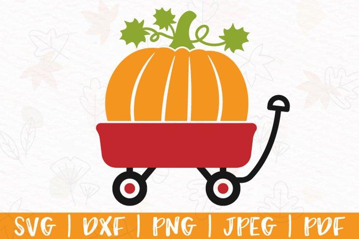 Pumpkin wagon svg, Red wagon with pumpkin svg, dxf, png, pdf