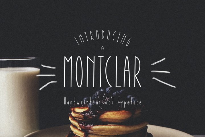 Montclar Font & Food Icons example