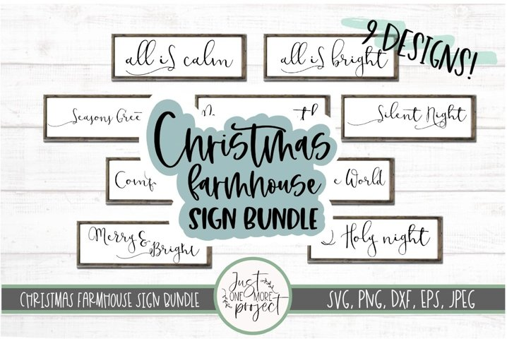 Christmas Farmhouse Sign Bundle, 9 designs, Wood Sign bundle
