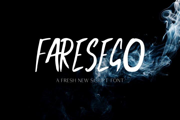Faresego Script Typeface