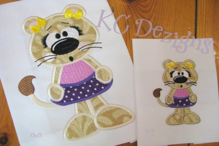 Beach Lion 02 Machine Applique Embroidery Design
