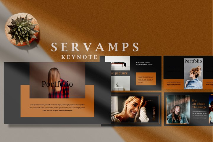 Servamps Dark Minimal - Fashion Keynote Template