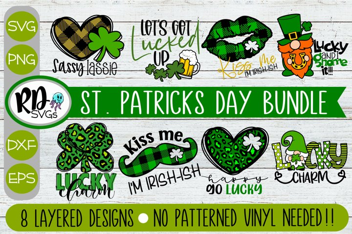 Trendy St Patricks Day Bundle - Set of Layered Cricut SVG