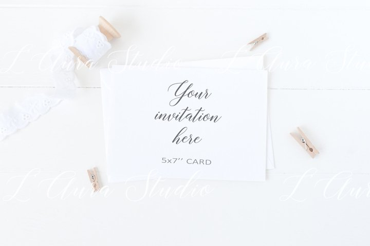 Invitation card mockup - psd/png