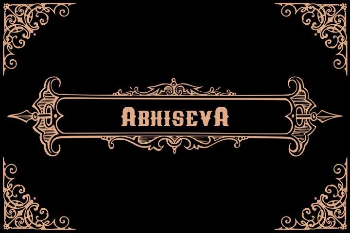 Abhiseva old calligraphy