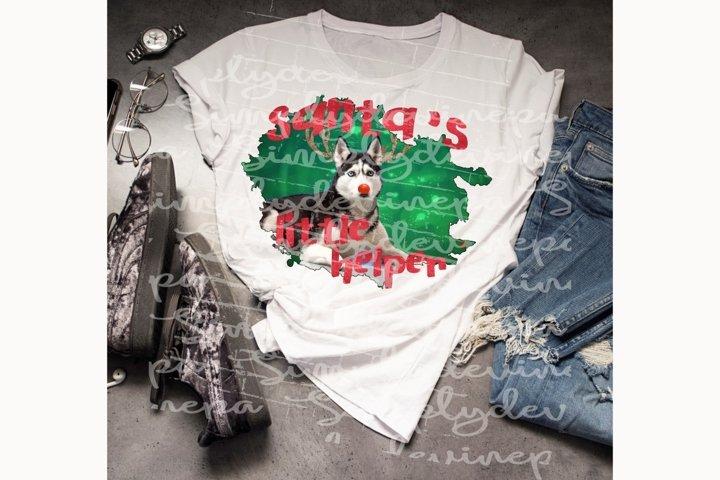 Sublimation Design -Santas little helper-Husky1