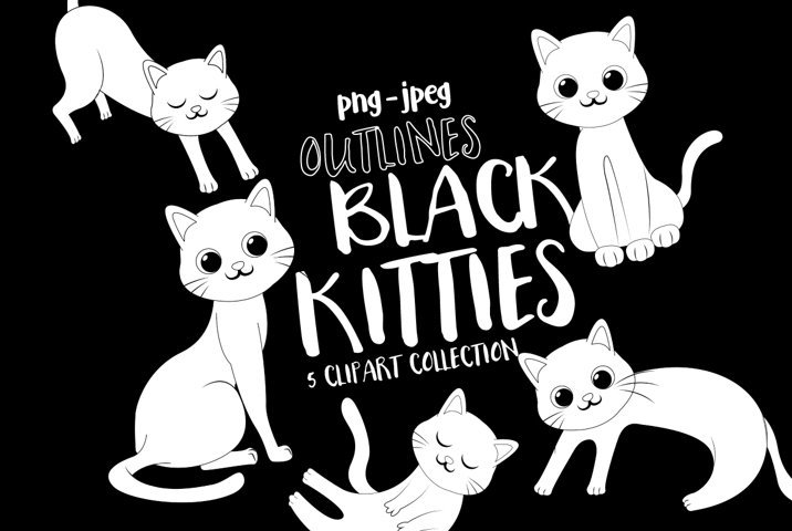 Black Cats - Outlines
