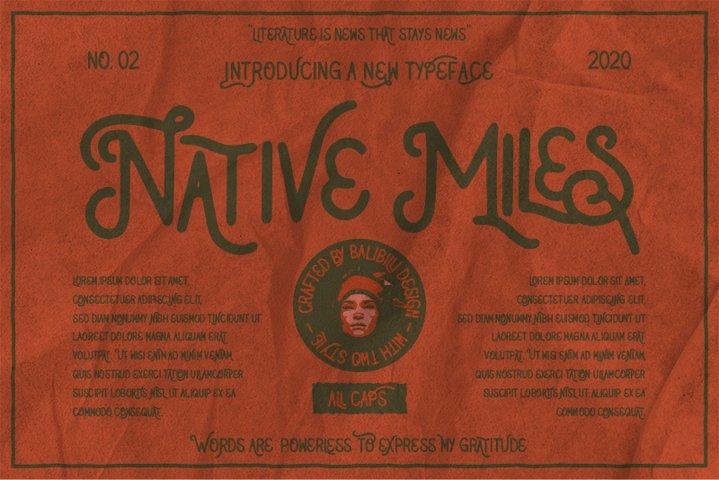 Native Miles - Vintage Font