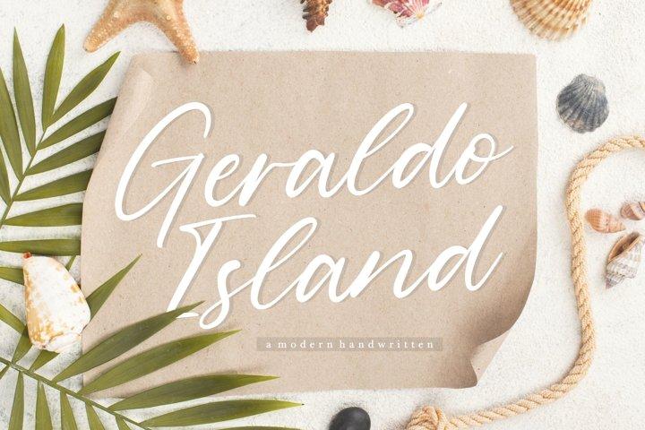 Geraldo Island Modern Handwritten Font