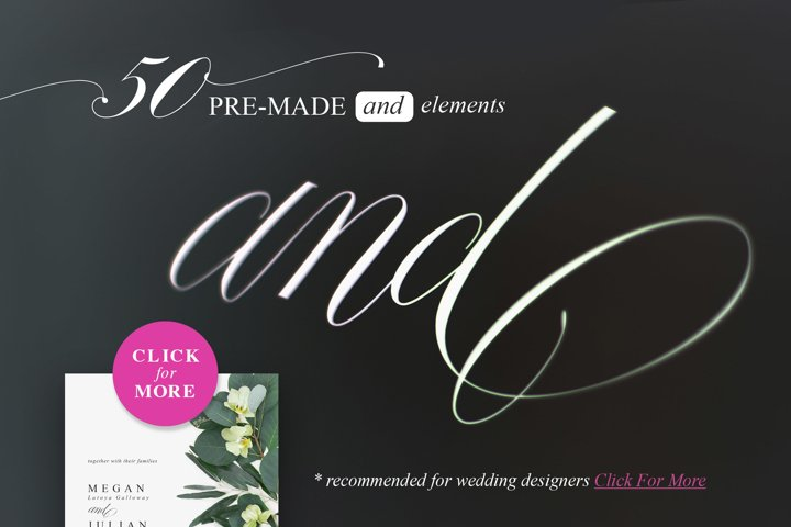Fifty AND for your weddings