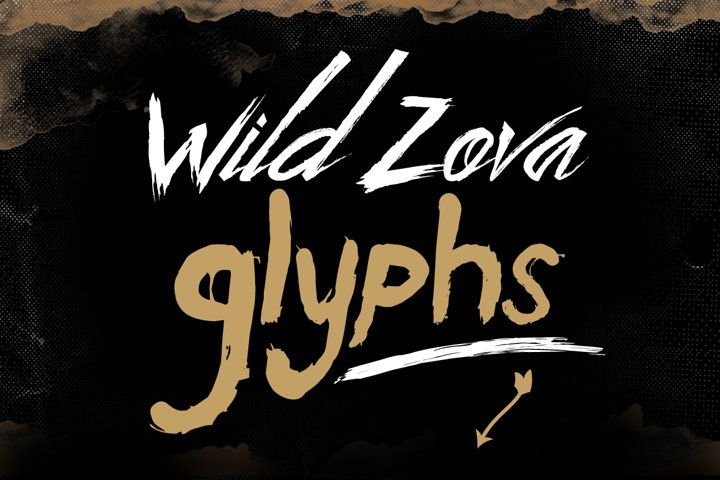 Wild Zova Family - Free Font of The Week Design5