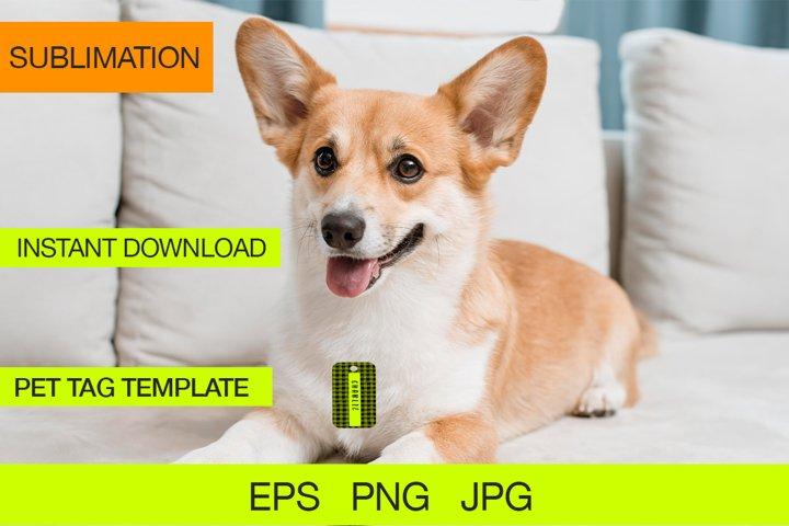 Pet Tag Plaid for Sublimation Design EPS, Sublimation Tag