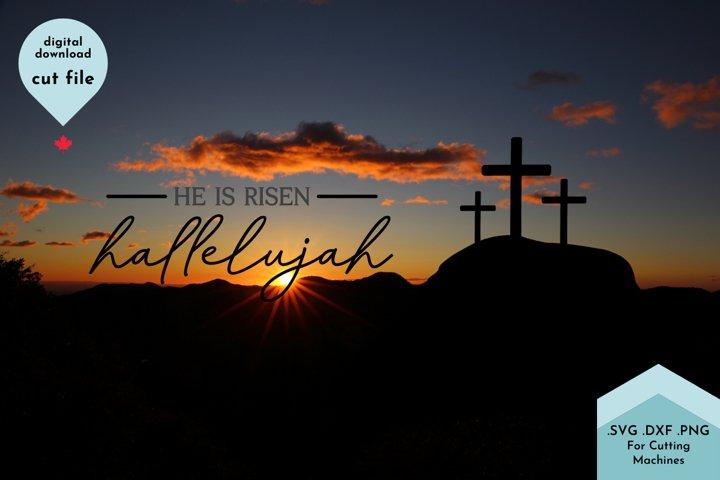 He Is Risen, Hallelujah Easter Cut File example 2