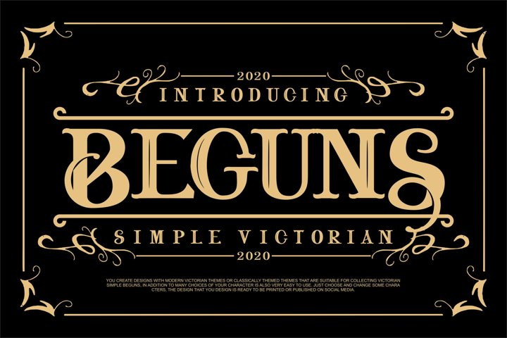 Beguns | Simple Victorian