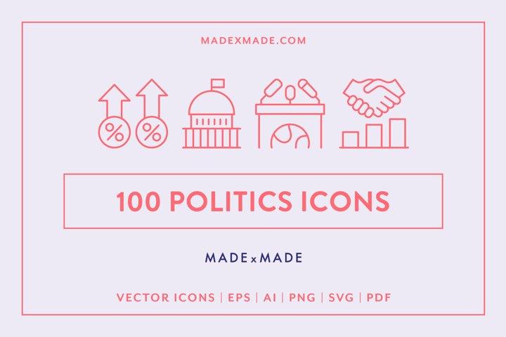 Line Icons - Politics