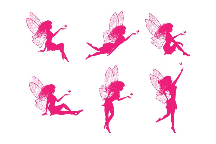 cute fairy silhouette collection