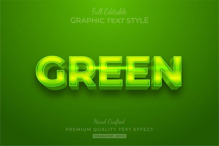 Green Shine Editable 3D Text Style Effect Premium