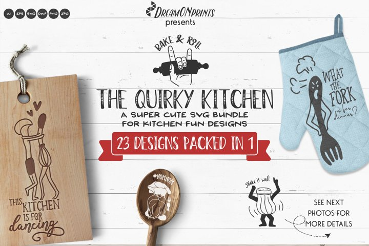 The Quirky Kitchen SVG Bundle | Funny Kitchen Signs SVG