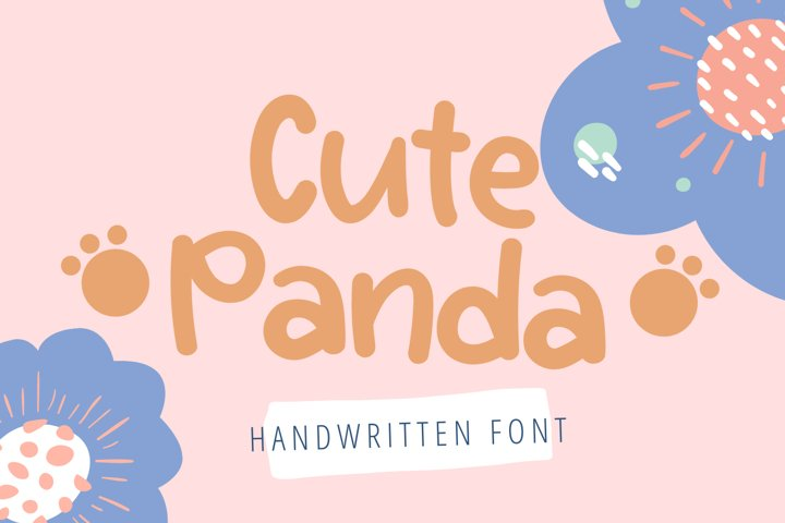 Cute Panda-Cute Handwritten Font