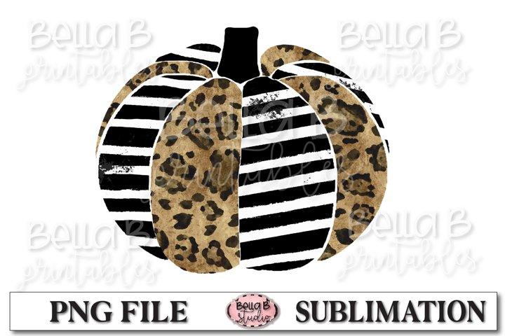 Leopard Print Pumpkin Sublimation Design, Fall Pumpkins