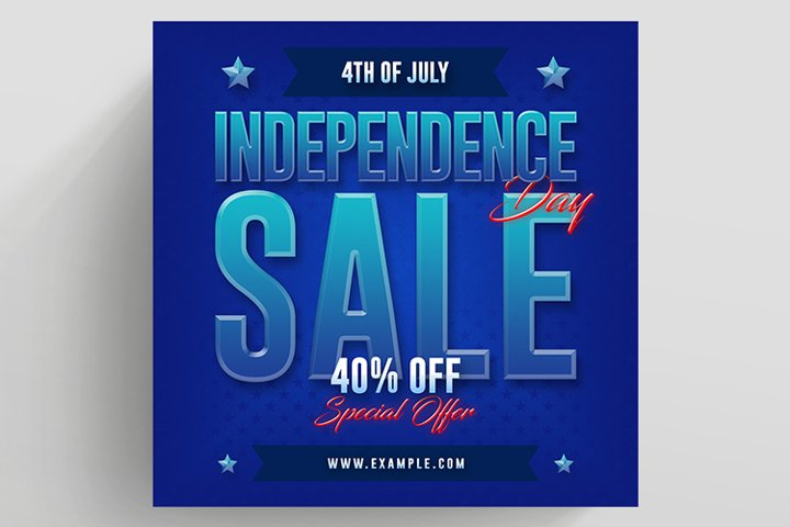 US Independence Day Sale Banner
