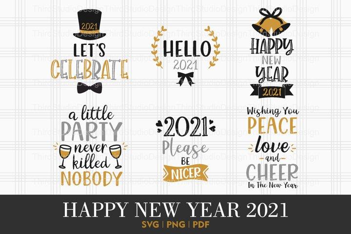 Happy New Year 2021 svg   Happy New Year svg   Vol 4