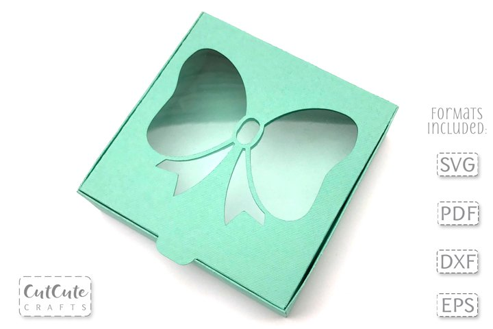 Square Bow Window Box SVG for 3 and 4 inch Hair Bows