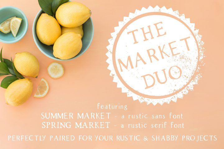 The Market Duo - Rustic Serif & Sans Font Combo - Free Font Of The Week Font