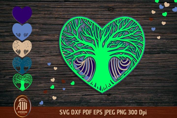 Tree of Life Mandala SVG|3d Layered Mandala|Tree of Life SVG