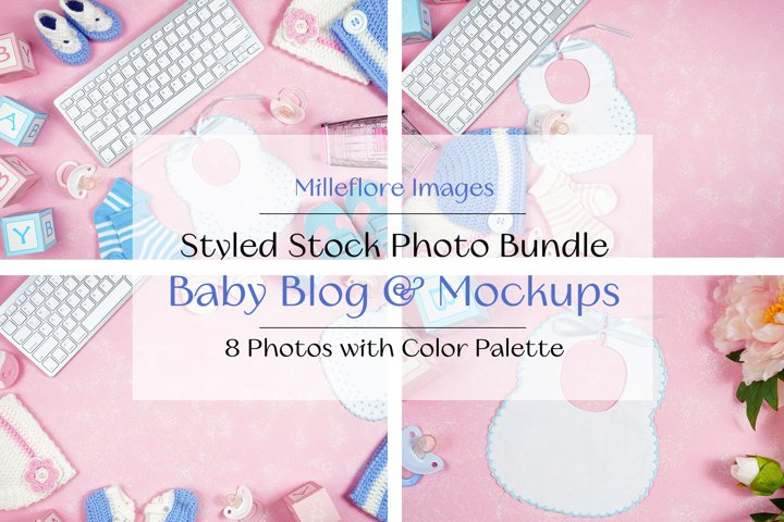 Baby Nursery Hero Headers Mockups Styled Stock Photos Bundle