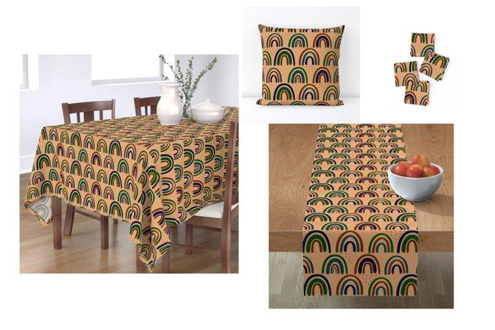 Modern Bohemian patterns. Boho pattern collection example 8