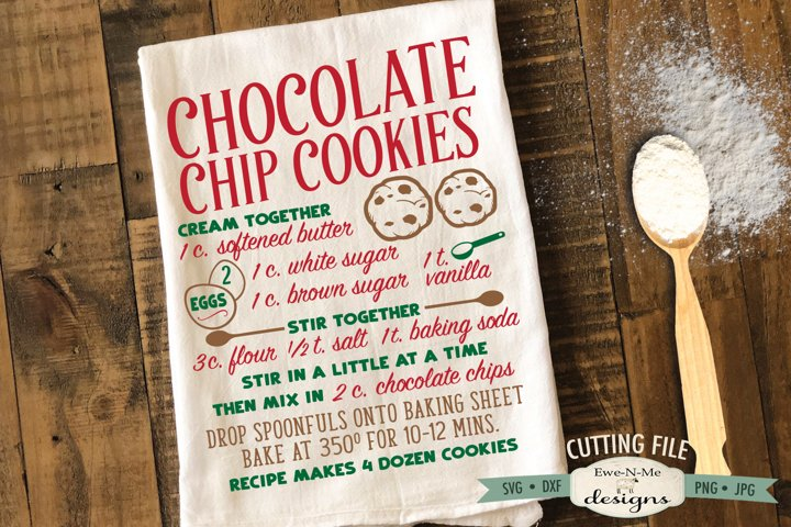 Chocolate Chip Cookie Recipe - Kitchen - SVG DXF Files