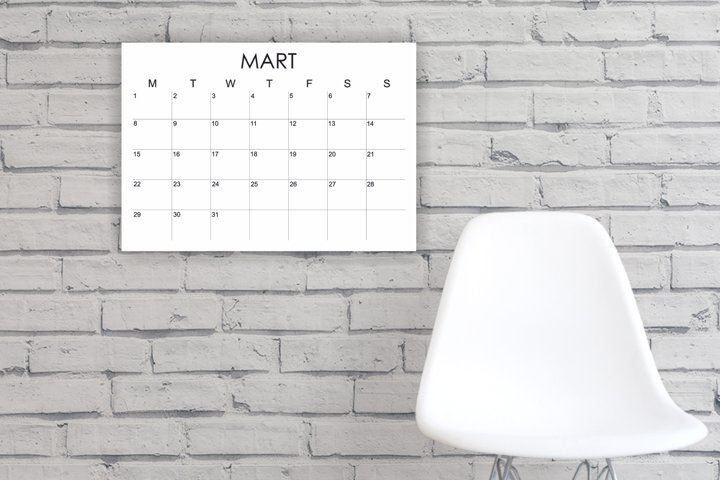 2021 Printable Calendar, 2021 Large Wall Calendar