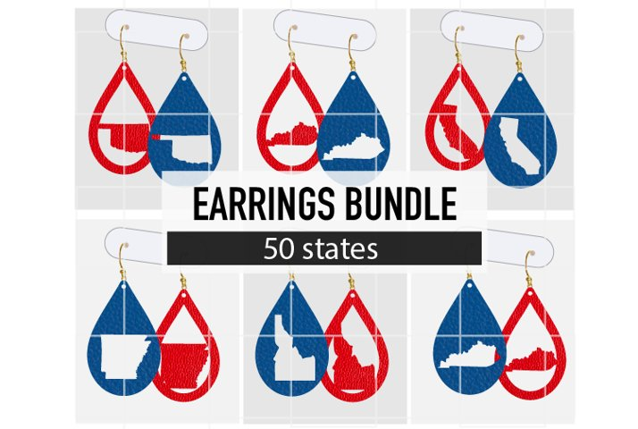 4th of July Earrings Bundle / Earrings Svg / Earrings Templa