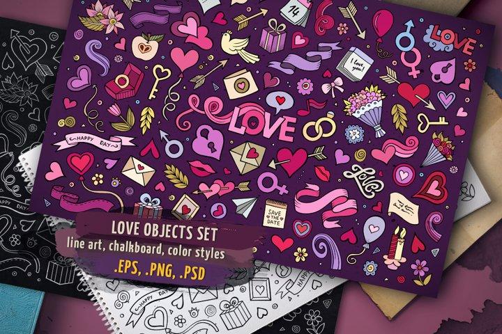 Love Objects & Symbols Set