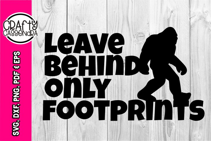 Bigfoot svg - bigfoot silhouette - Sasquatch - Leave behind