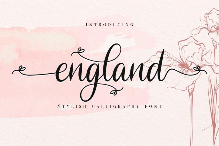 England // Stylish Calligraphy Font