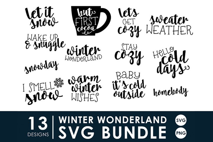 Winter Wonderland SVG Bundle