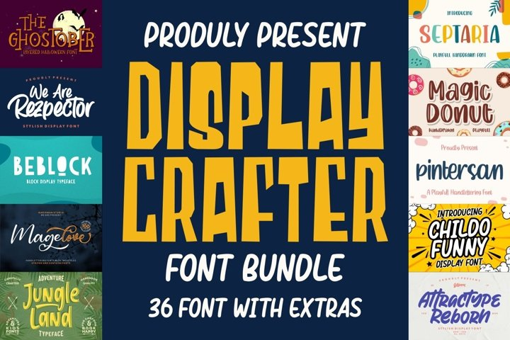 DISPLAY CRAFTER Font Bundles