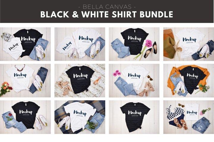 Black and White Shirt Mockup Bundle, Tshirt Mock up Bundle