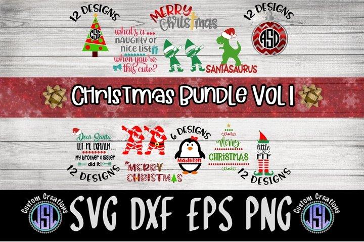 Christmas Bundle Vol 1| 63 Designs | SVG DXF EPS PNG