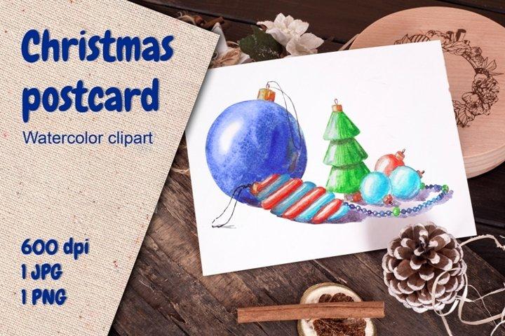 Christmas Gnomes and Santa Stickers. Warercolor pack