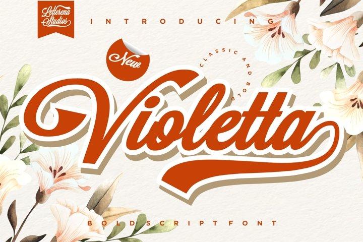 Violetta - Sexy Bold Script Font