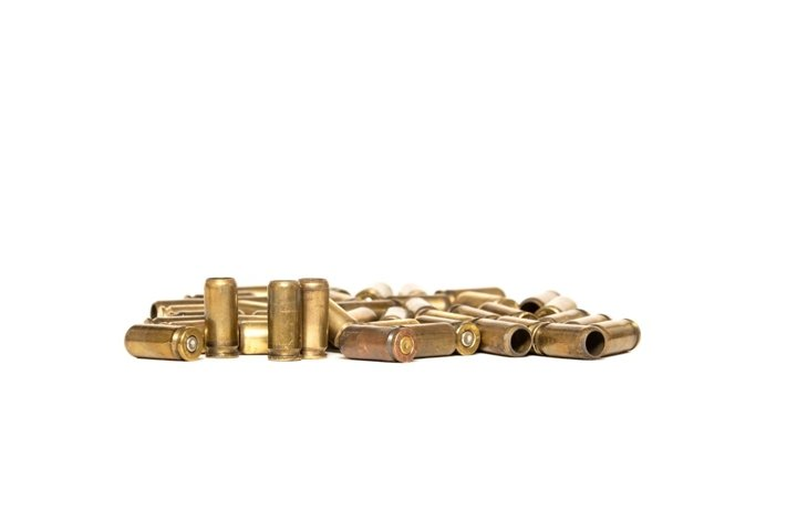 pistol cartridges and casings