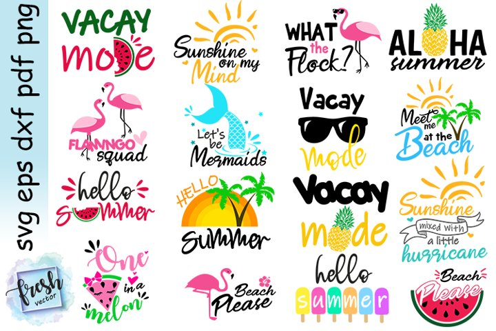 Summer Bundle Svg Summer Vacation Quotes Svg Summer Vibes