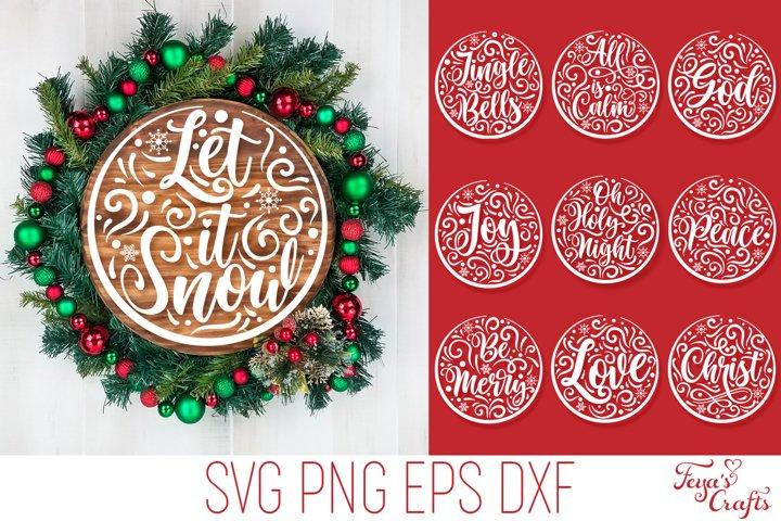 Round Christmas SVG Flourishes Pack | Round SVG Cricut