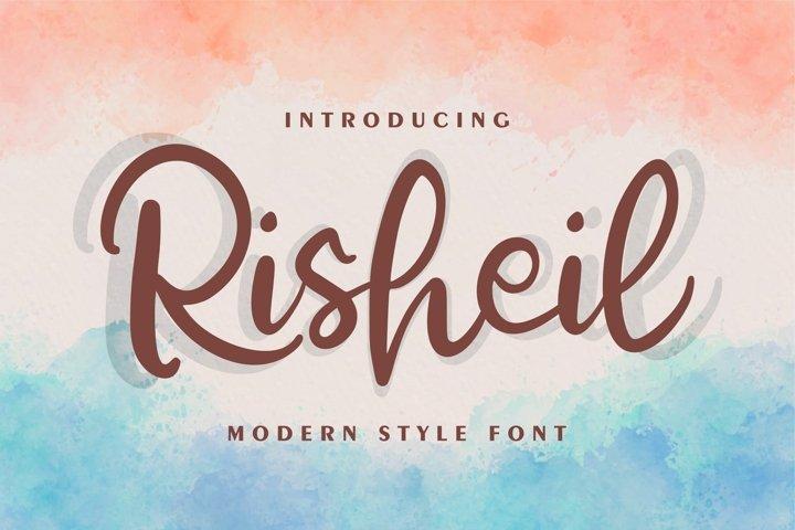 Risheil | Modern Style Font